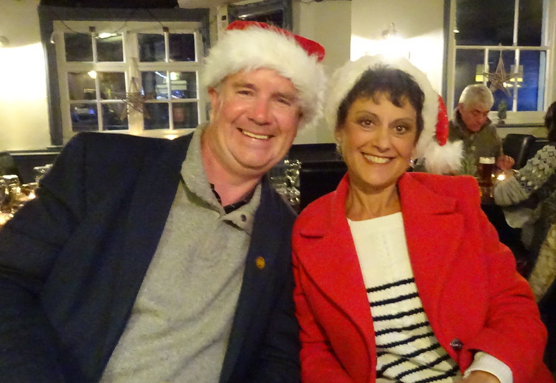 Christmas Eve with Laura and Mike at the Cock Inn in St. Albans