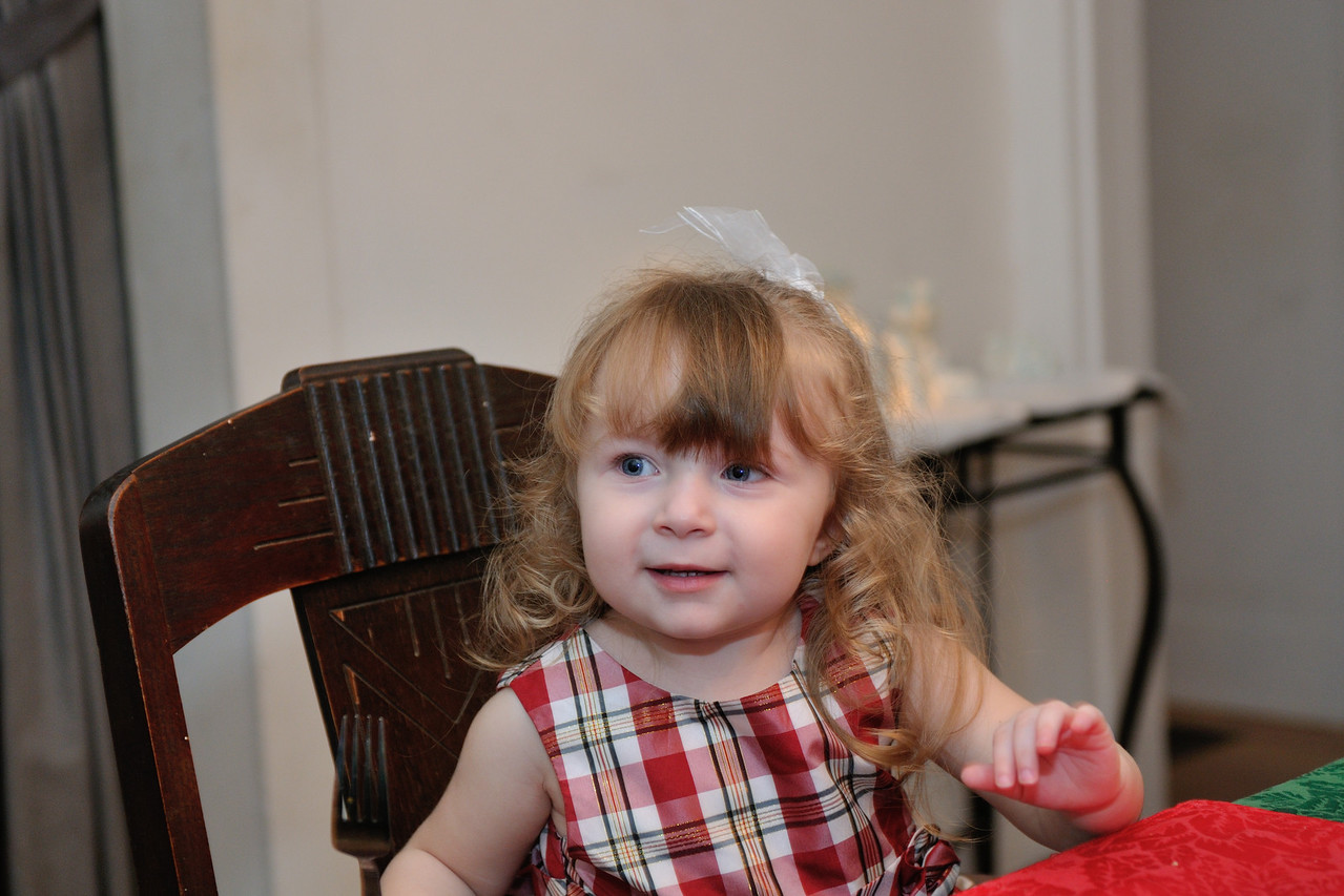 Our niece on Christmas Eve