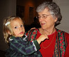Amelia with her grandmother Becky Loewy