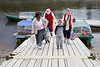Santa on the boat docks in Moose Factory