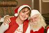 the ONR's Christine Blais with Santa