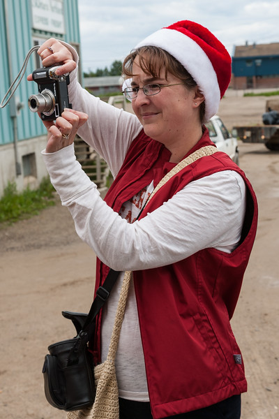 ONR photographer in Moosonee 2007 July 6