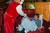 Santa Claus greeting a young person on the Polar Bear Express 2007 July 6