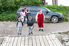 Santa heading to public docks to catch a boat to Moose Factory 2007 July 6
