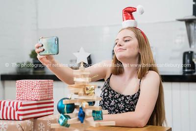 Smug look taking selfie