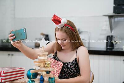 Selfie taking on Christmas morning