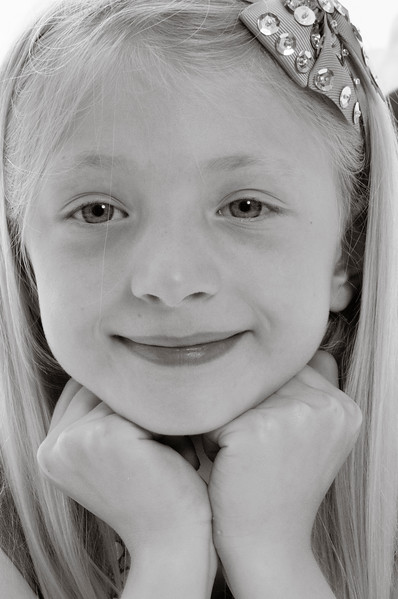 pretty blonde girl smiling,