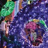 DAVAO. The Christmas Sonata decorations were lit up along J.P. Laurel Street, Sunday evening. The decors cost P2.5 million. (King Rodriguez)