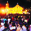 NOW IT FEELS LIKE CHRISTMAS.  The crowd spills out into the yard of the Cebu Metropolitan Cathedral during the first of the nine-day series of dawn masses. (Sun.Star Photo/Arni Aclao)