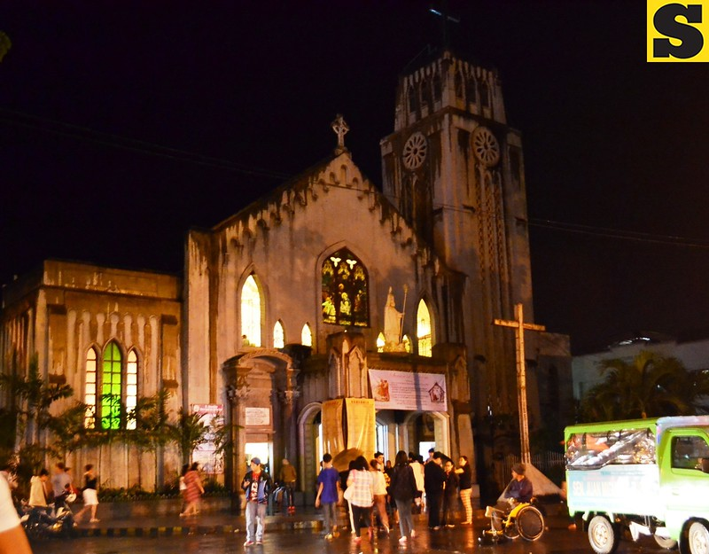 CAGAYAN DE ORO. St. Augustine Cathedral opens its doors for this year's Misa de Gallo on December 16, the first day of the nine-day novena masses. (Photo by Lenesse Marie P. Libres of Sun.Star Cagayan de Oro)