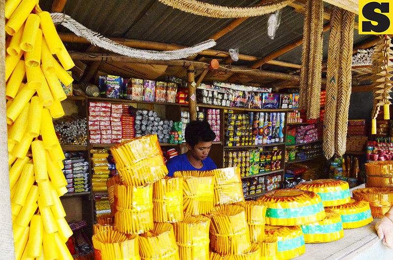 BACOLOD. A firecracker store in Hinigaran town, the fireworks capital of Negros Occidental, is now open for business for Christmas and New Year celebrations. (Archie Rey Alipalo photo/Sun.Star Bacolod)