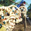 CEBU. Christmas parols, which were made by Marina Ayuda with the use of mainly natural materials like corn husk, guinit and twigs, are displayed along the street.  (Allan Cuizon/Sun.Star Cebu)