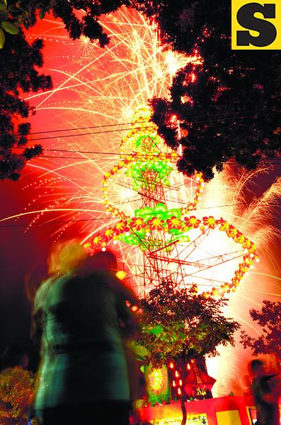 Lighting of Christmas tree at Fuente Osmena in Cebu