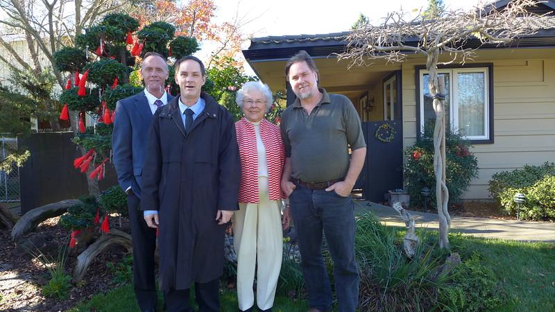 Ty, Buck, Mom, and Chris, Christmas 2014.