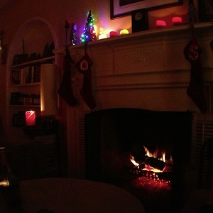 the week before Christmas, cold enough for a fire