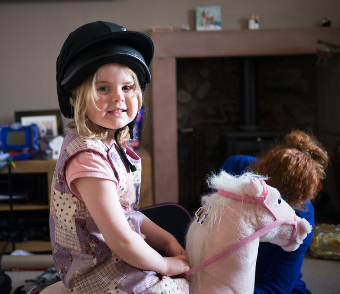 Juliette with her riding hat