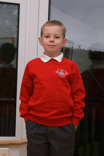 Christopher Perry<br /> First day in P3.<br /> Holy Family Primary School<br /> Sept 2007