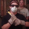 Matt with Matt after deconstruction.