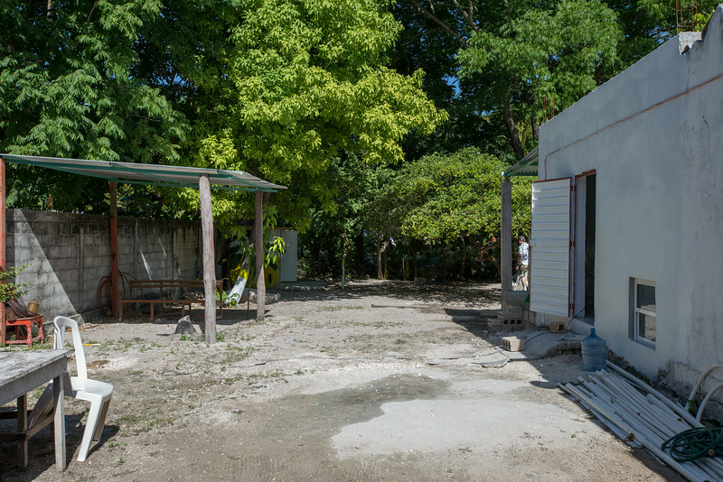 side yard of the church.