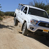 Shiny new Taco NOT quite as flexy in stock form, still had the best traction of the bunch, thanks to ATRAC and rear locker:
