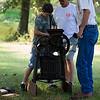 Jake, Mike, Dad grinding apples