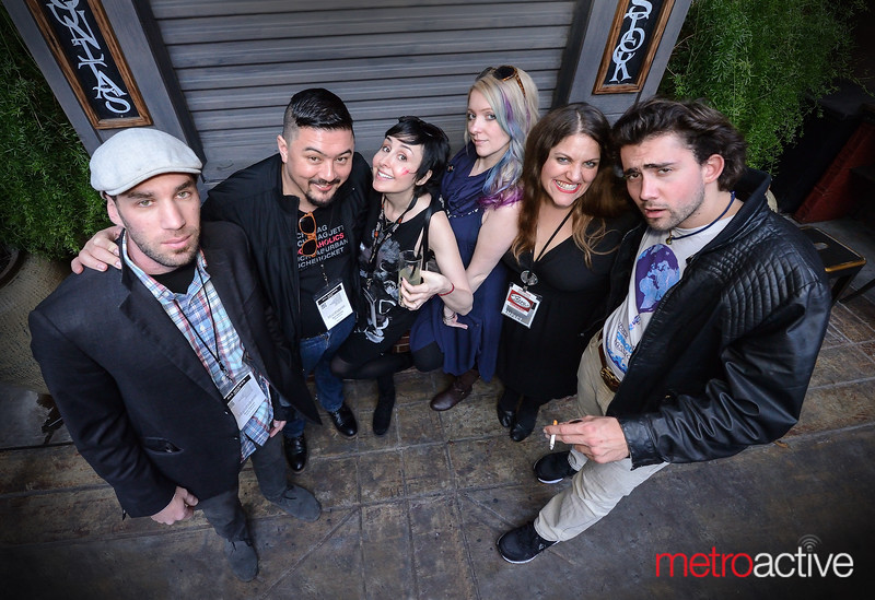 Bailey Coppola (r) with Cinequest attendees and crew