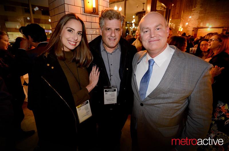 Metro's Dan Pulcrano (c) with Cinequest CEO Halfdan Hussey (r)