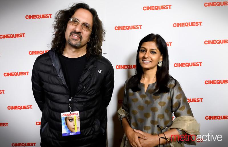 Metro writer Gary Singh with Nandita Das