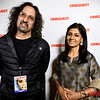 Metro writer Gary Singh with Nandita Das
