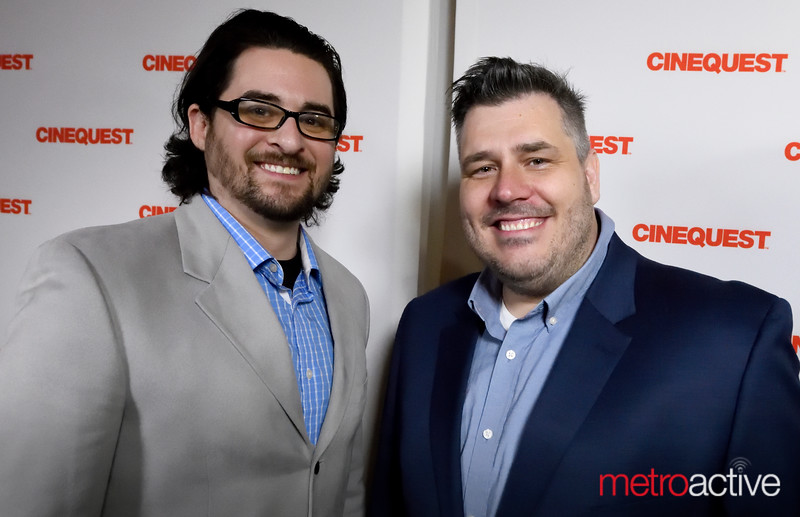 """Sean Carmichael (L) with Anthony Ambrosino of """"The Wrong Todd"""""""