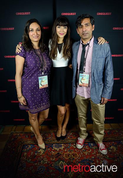 Actresses Meera Simhan, Hannah Simone with Director Ravi Kapoor