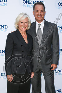 BEVERLY HILLS, CA - SEPTEMBER 19:  Actors Glenn Close (L) and Tom Hanks attend the Circle of Hope dinner and entertainment gala at Beverly Hills Hotel on September 19, 2012 in Beverly Hills, California.  (Photo by Chelsea Lauren/WireImage)