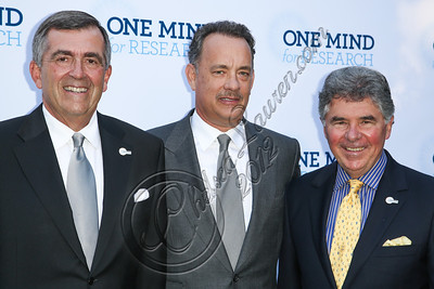 BEVERLY HILLS, CA - SEPTEMBER 19:  (L-R) CEO of One Mind for Research General Peter Chiarelli, actor Tom Hanks and One Mind for Research co-founder Garen K. Staglin attend the Circle of Hope dinner and entertainment gala at Beverly Hills Hotel on September 19, 2012 in Beverly Hills, California.  (Photo by Chelsea Lauren/WireImage)