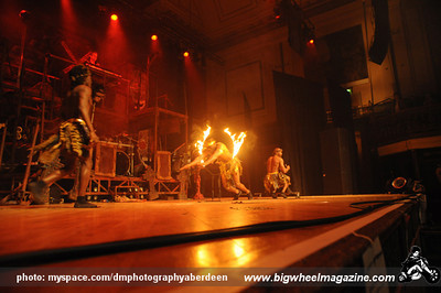 """The Circus of Horrors - """"The Day of the Dead"""" Tour - at The Music Hall - Aberdeen, UK - February 9, 2010"""