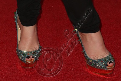 WEST HOLLYWOOD, CA - NOVEMBER 07:  Model Jenna Bentley (shoe detail) attends the City of Hope's Fifth Annual MEI Comedy Roast Honoring Clear Channel's John Ivey at House of Blues Sunset Strip on November 7, 2012 in West Hollywood, California.  (Photo by Chelsea Lauren/WireImage)