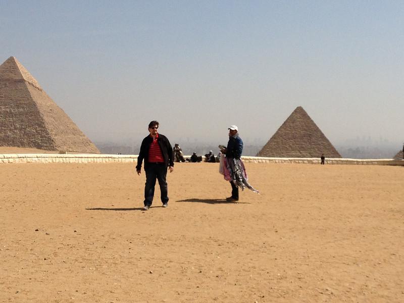 Giza Plateau and Johann