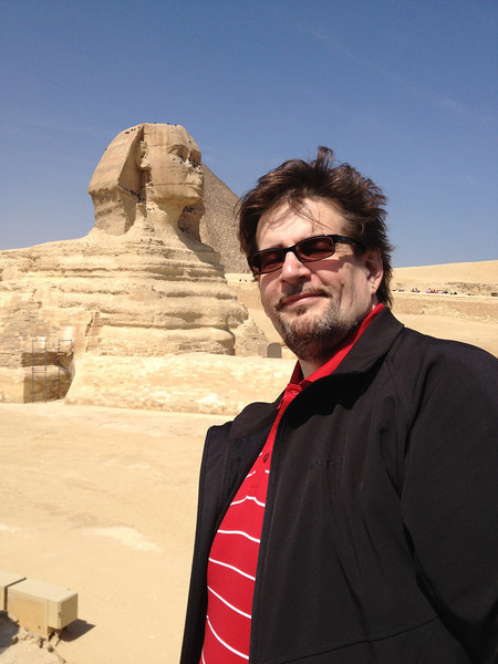 The Great Sphinx of Giza with Johann