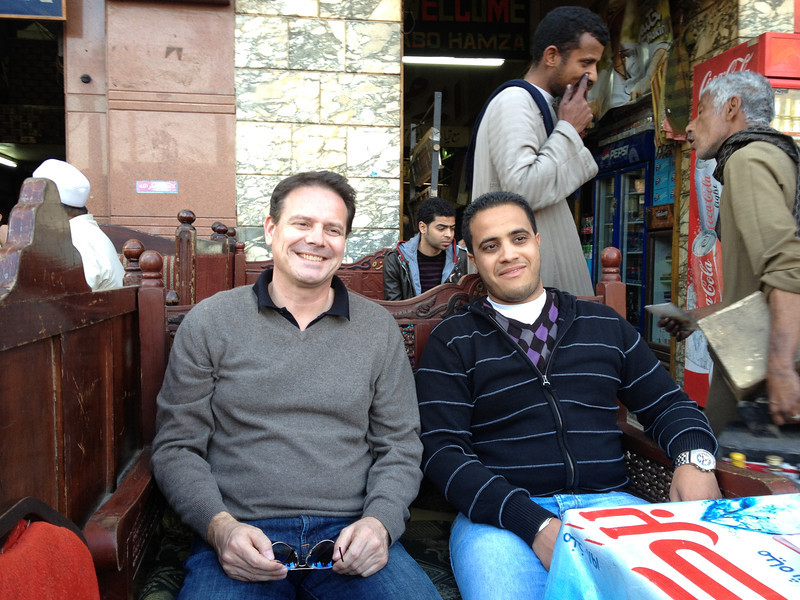 Robert and Mohammed waiting for the Tea