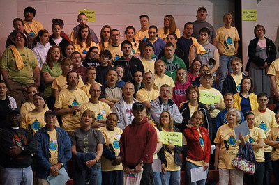 CitySERVE 2013:500 volunteers preparing to serve the Lord Jesus at 40 area shelters, urban churches, schools and social agencies throughout Greater Cleveland.