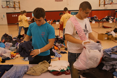 Sorting clothes