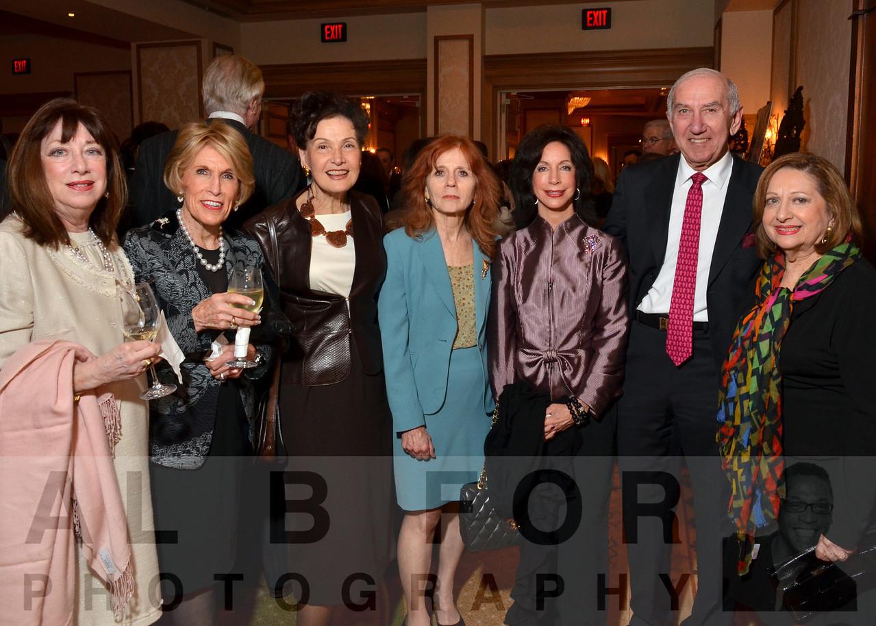 Judy Leib, Mary Ann Oakes, Barbara Tiffany, Flora Becker, Clair Rose, with Alan & Gwen Goodman