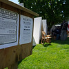 5/14/16 FITCHBURG-- A sign outside the tent's looking for recruits.  The 15th Mass Infantry re-enacted scene's from the American Civil War on Saturday put on by the Fitchburg Historical Society at Monument Park in Fitchburg.  Sentinel & Enterprise Photo/Jeff Porter