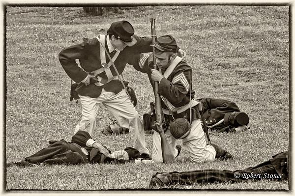 Civil_War_Reenactment_20090620_0716-1B&W