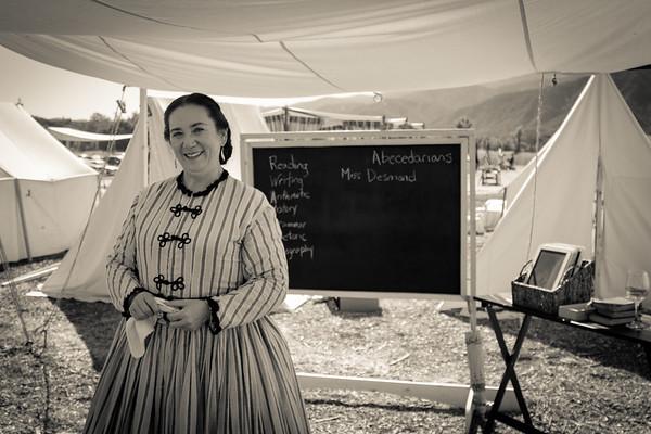 School teacher in the civil war