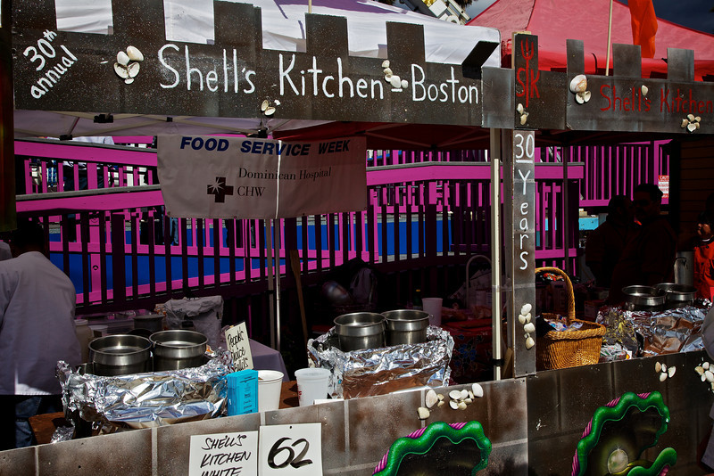 Shell's Kitchen and Gordon Clamsey (Not pictured).  There was no shortage of Clam Pun's feature at todays event.