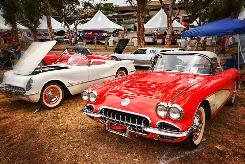 Late 1950 models Chevrolet Corvette Roadsters when they were sexy