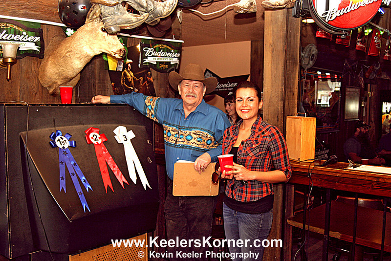 Clayton Club Saloon owner Bob Steiner and Janice Mitchell