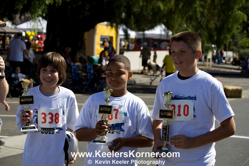 L to R. Winners in Age group 11-13. 3rd place Leonardo Rodriguez, 2nd Place Nathaniel Mitchell, 1st Place Tyler Clemons.