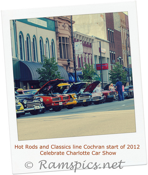 """Few images from Friday evenings """"Celebrate Charlotte"""" car show. Downtown Charlotte MI June 2012."""