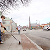 Twin City Community Development Corporation along with Fitchburg Pride, the City and Fitchburg High School where out on Friday morning helping to clean up Main Street in Fitchburg.  Helping with the cleanup on Main Street is FHS freshman Jared Bradley. SENTINEL & ENTERPRISE/JOHN LOVE